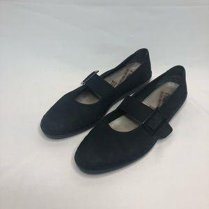 Rieker Black leather Mary Jane flats